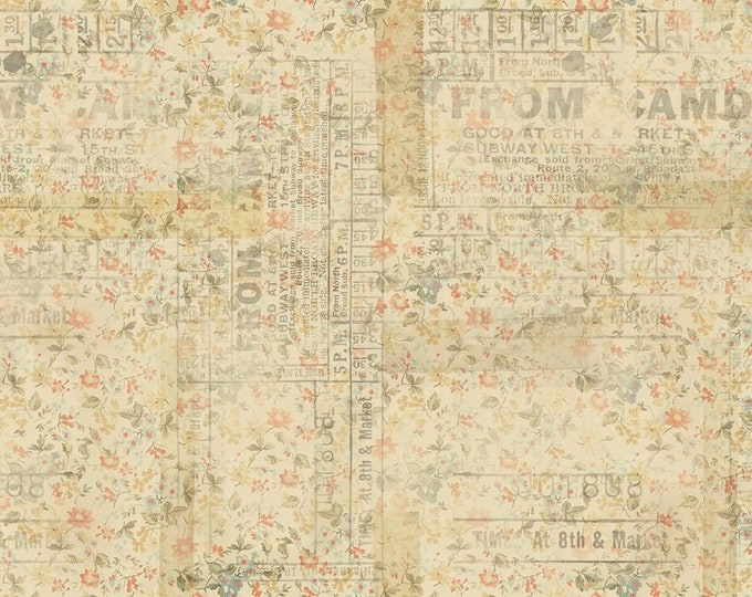 Free Spirit Fabric - Tim Holtz Eclectic Elements Memoranda - From Camden PWTH092.MULTI Cotton Woven Fabric