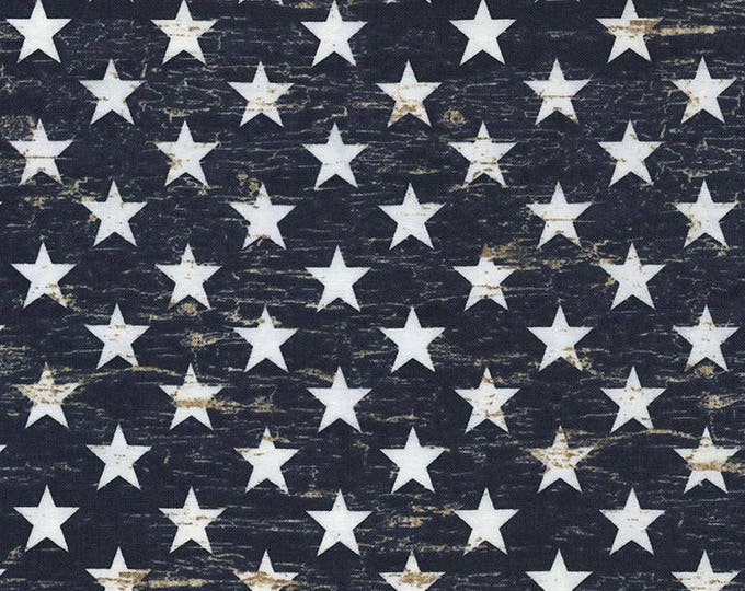 Timeless Treasures - Stars on Blue Cotton Woven Fabric
