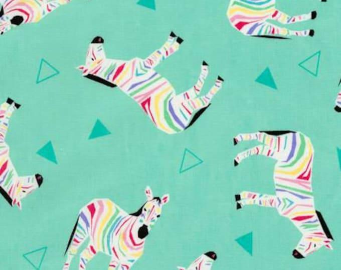 Timeless Treasures - Rainbow Zebras Cotton Woven Fabric
