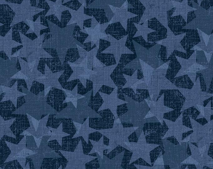 Studio E - All American Road Trip - Stars - Navy  4319-77 Cotton Woven Fabric
