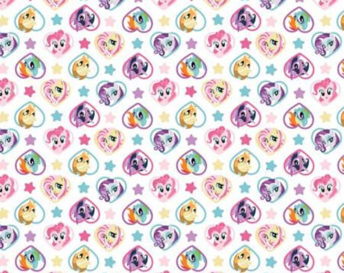My Little Pony - Hearts - Cotton Woven Fabric - Hasbro