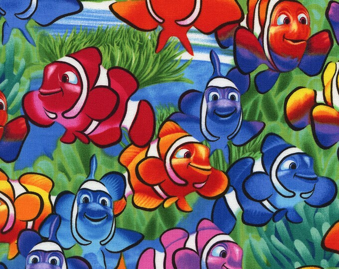 Clownfish by Michael Searle, Timeless Treasures Cotton Woven