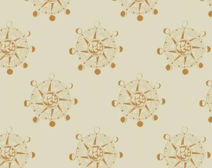 Dear Stella - Aweigh North - Sand Star Compass - Rae Ritchie - Cotton Woven Fabric