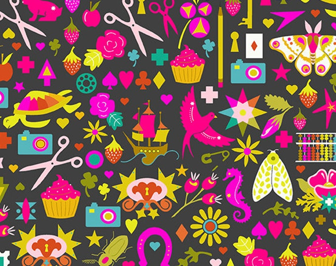 Andover Fabrics - Handiwork by Alison Glass - Decoupage Ink #9249-C - Cotton Woven Fabric