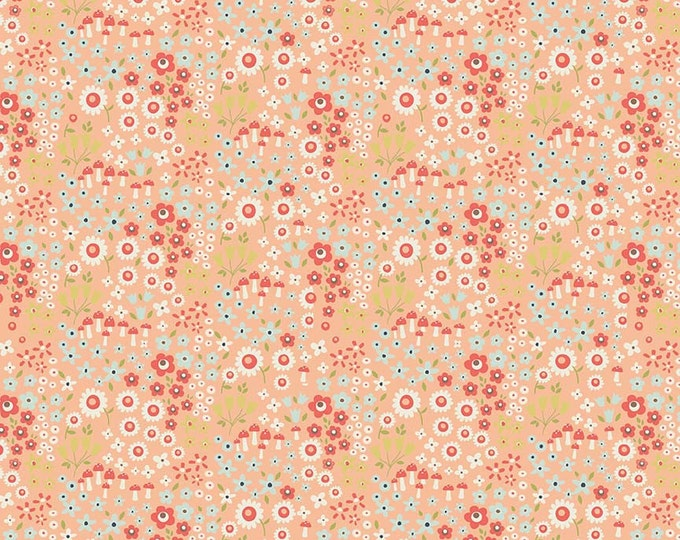 SALE !!! Riley Blake Petal Coral Woodland Springs Cotton Woven