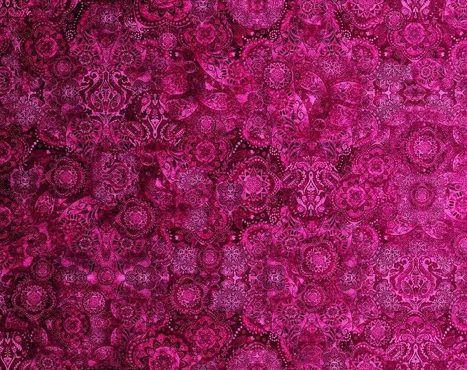 Quilting Treasures  - Bohemian Rhapsody by Dan Morris - Raspberry Beret -   26956 PV Cotton Woven Fabric