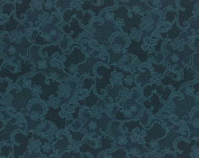 Rose Life Garden Navy Lace Cotton Woven By Lecien Fabrics