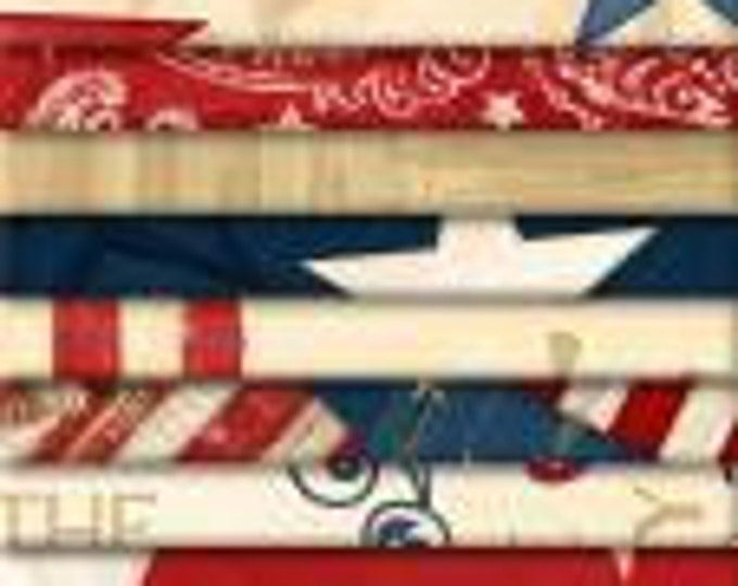 Wilmington Prints - Color of Freedom 24 pieces of 2 and 1/2 inches wide, cotton fabric, by Wilmington Prints - SALE !!  was 20 - Now 15