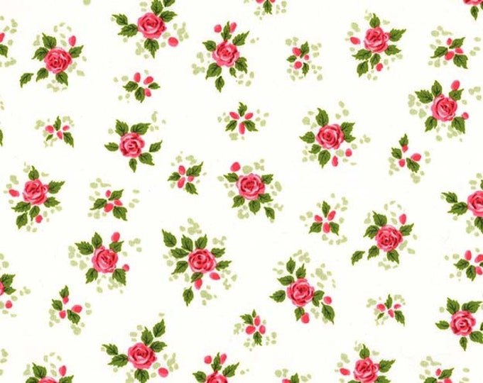 Michael Miller Fabrics - Charming by Gertie - Charming - Ivory - Cotton Woven Fabric