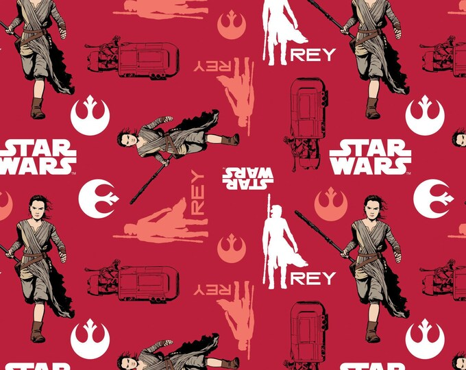 Ruby Star Wars, The Force Awakens Cotton Woven