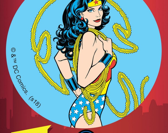 "Fun Stuff - Camelot Fabrics - Ad Fab Adhesive Badge - DC Comics - Wonder Woman Lasso - Adhesive Fabric 3"" Badge #23400551X - 100% Polyester"