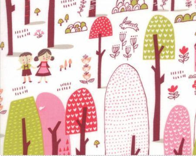 Walk in the Woods on Cream Cotton Woven,  Just Another Walk in the Woods by Moda