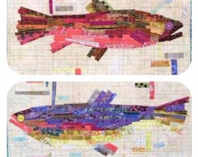 "Pattern - Making Fish Collage Pattern by Laura Heine, size 14""x22""."