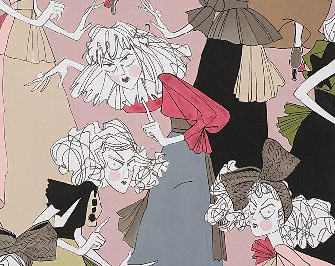 Alexander Henry - A Ghastlie Casting - Deadly Mauve - Cotton Woven Fabric