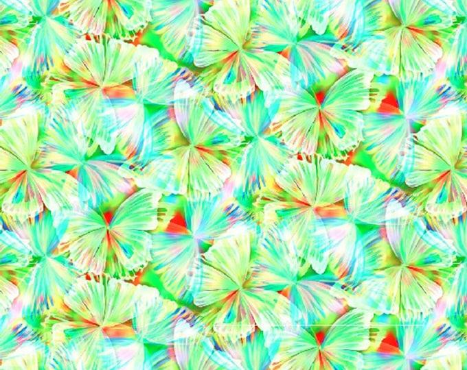 Hoffman Fabrics - Mariposa Butterflies 104in Wide Back Digitally Printed # WQ4425H-656 - Quilt Backing    - Cotton Woven Fabric