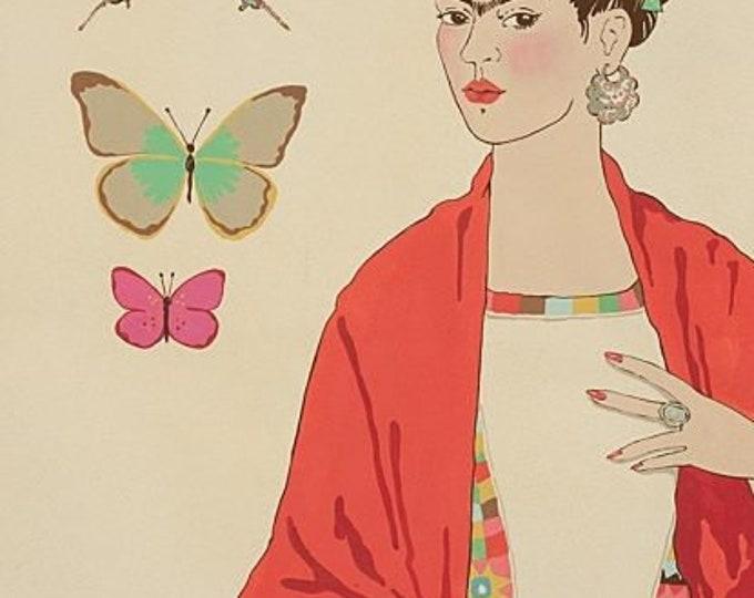 "Alexander Henry Fabrics - L'Artista con Alma - Tea Dye, Frida 24"" panel Cotton Woven Fabric"