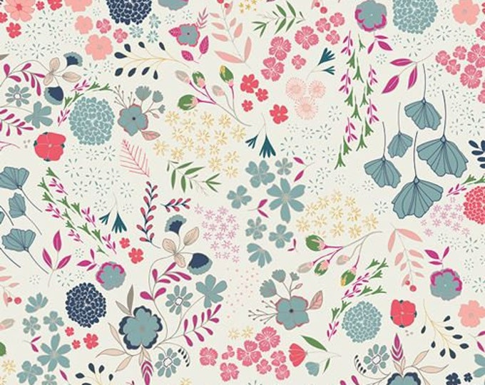Art Gallery Fabric - Flower Child - Blooming Ground - Lustrous - Cotton Woven