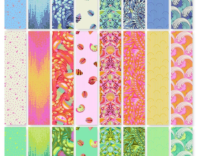 Tula Pink - Zuma - Fat Quarter Bundle of 24 prints  - Cotton Woven Fabric