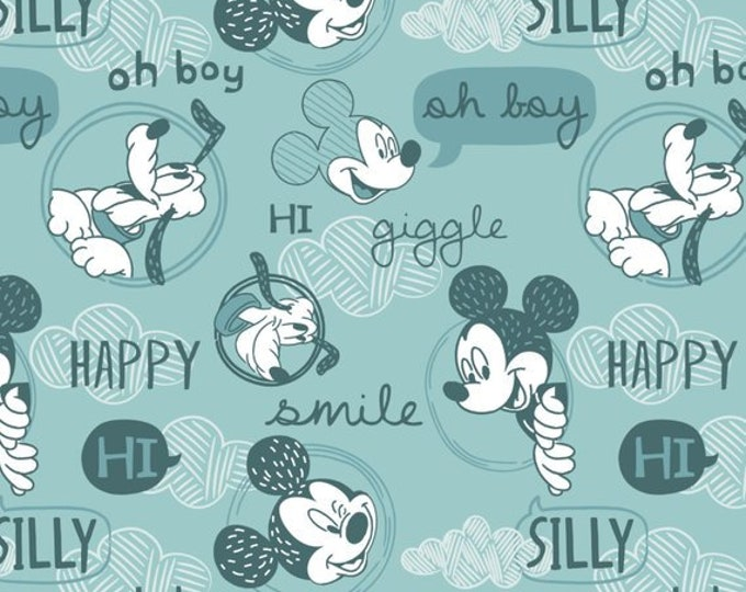 Disney's Mickey Mouse Oh Boy Rainwater Cotton Woven by Camelot Fabrics