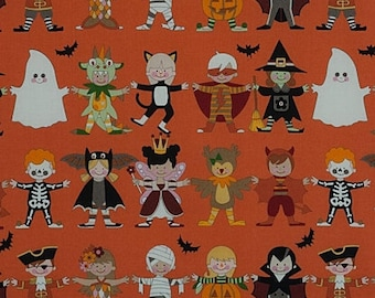 Alexander Henry Fabric - You + Me Scary in Orange Cotton Woven fabric