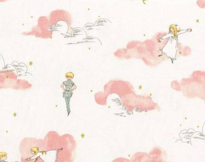 Michael Miller - Peter Pan by Sarah Jane  Peter & Wendy- Blossom -Metallic Cotton Woven Fabric