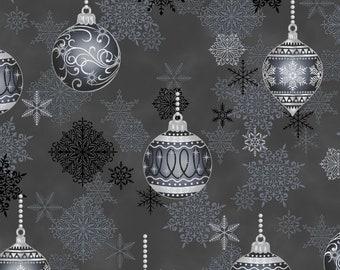 Stof Fabrics - It's Snowflake - 4597-004 - Cotton Woven Fabric w/ Metallic Accents