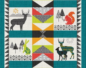 StudioE - Into the Woods - 24 Inch Panel 4539P-67 Cotton Woven Fabric