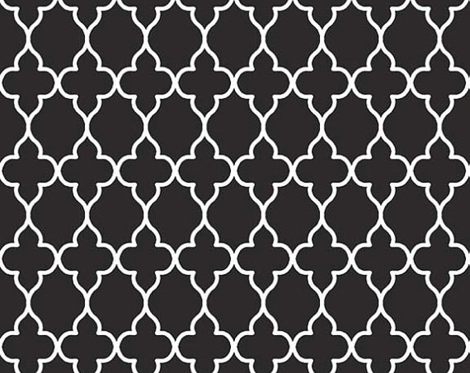 SALE !!! Riley Blake Evening Blooms Wallpaper Black and White geometrics