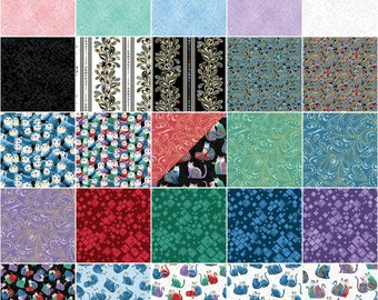 "Benartex Fabrics - Cat-I-Tude 2 Purrfect Together by Ann Lauer -   42 Pieces 10"" Layer Cake Squares - Pre-Cut Cotton Woven Fabric"