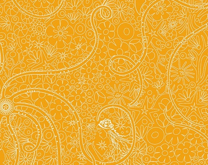 Alison Glass, Sunprint 2018 Depths Honey A 8674 Y cotton fabric