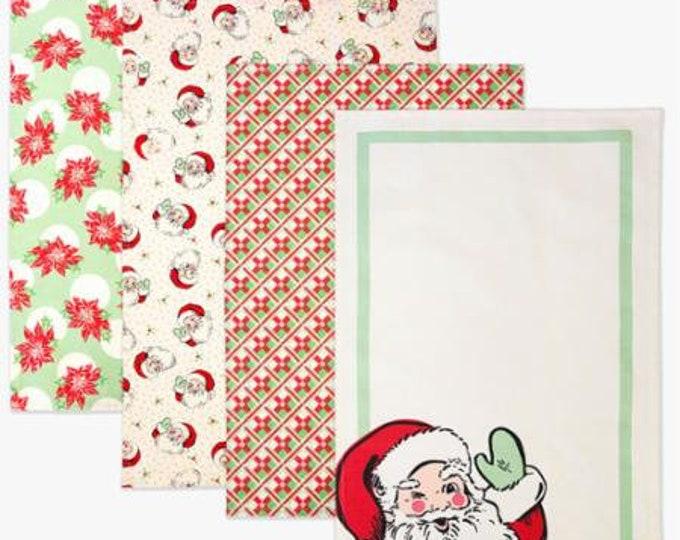 Moda Swell Christmas Tea Towels Set of 4