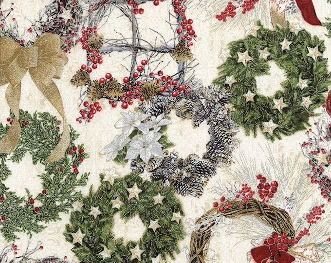 Wreaths Cotton Woven by TImeless Treasures