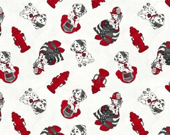 Blank Quilting -  Thin Red Line - Dalmatian on Light 9320-01 Cotton Woven Fabric