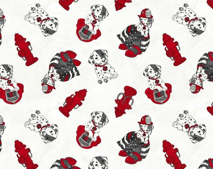 Thin Red Line - Dalmatian on Light - Cotton Woven Fabric - Blank Quilting 9320-01