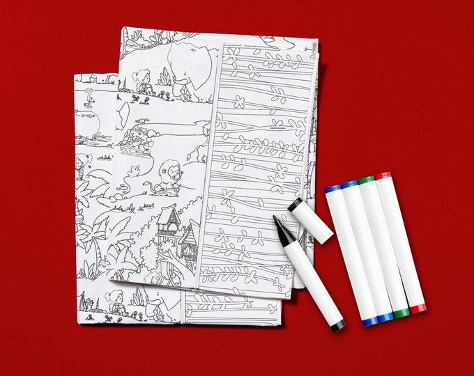 Kit -  Color Me Pillowcase Kit Tarzanimals # KT0104
