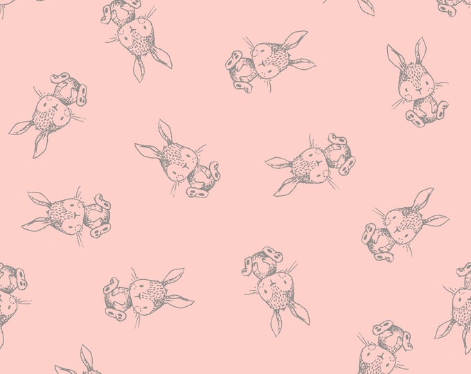 Fabric Editions  - Little Thicket - Bunnies Cotton Woven Fabric #14531-PINK
