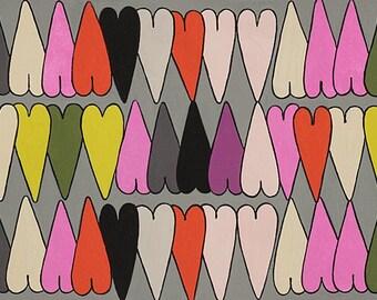 Alexander Henry Fabrics - The Ghastlies - Heart-8793B Snapdragon  - Cotton Woven Fabric