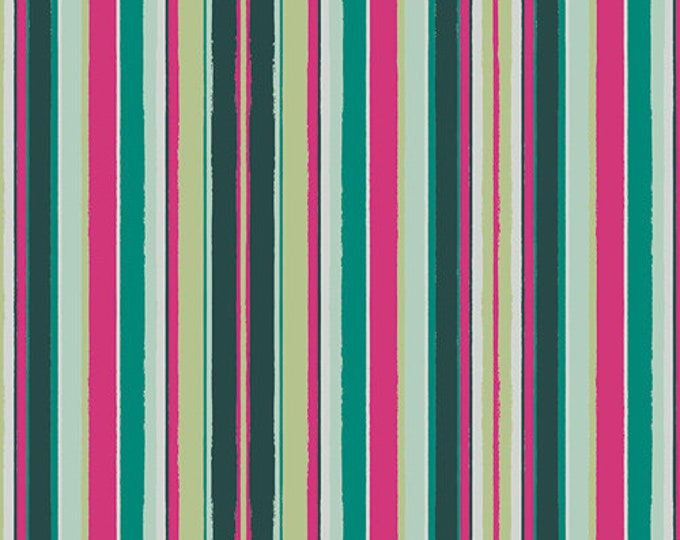 Art Gallery Fabric - Loved to Pieces - Rainbow Striped Flow - Gentle - Cotton Woven