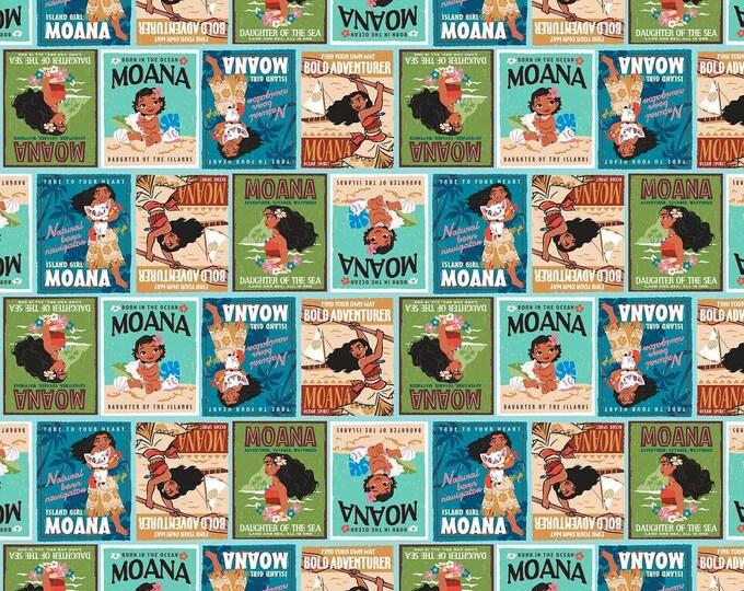 Disney Moana Badges Cotton Woven
