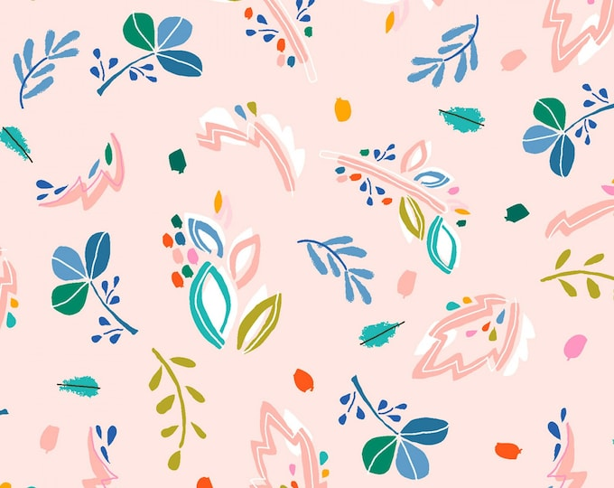 Dear Stella - Flockstar - Blush Abstract Floral  # ST-1261BLUS Cotton Woven Fabric