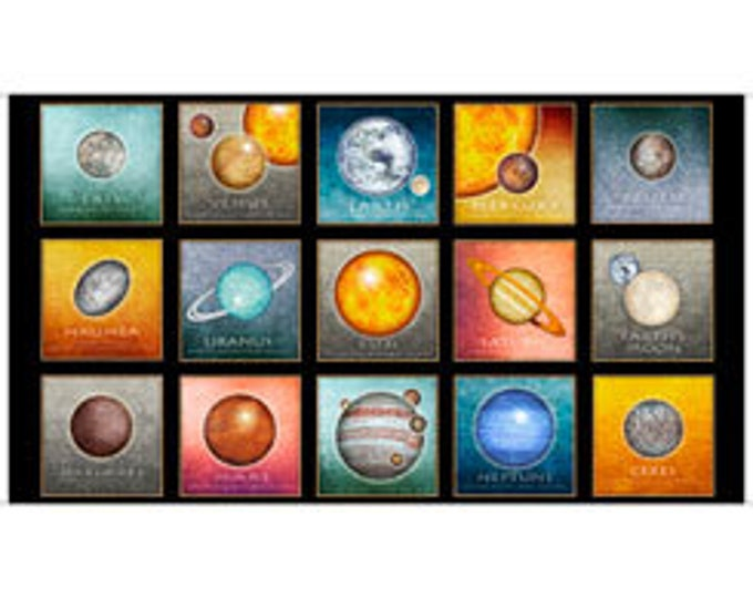 Quilting Treasures Fabrics - Intergalactic by Dan Morris - Planets Pictures - 24 Inch Panel Cotton Woven Fabric
