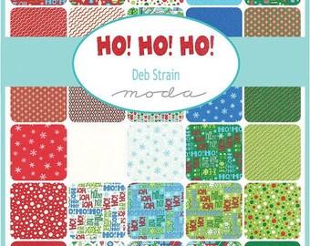 MODA Fabric - Ho Ho Ho by Deb Strain -  10 Inch Stacker cotton woven fabrics
