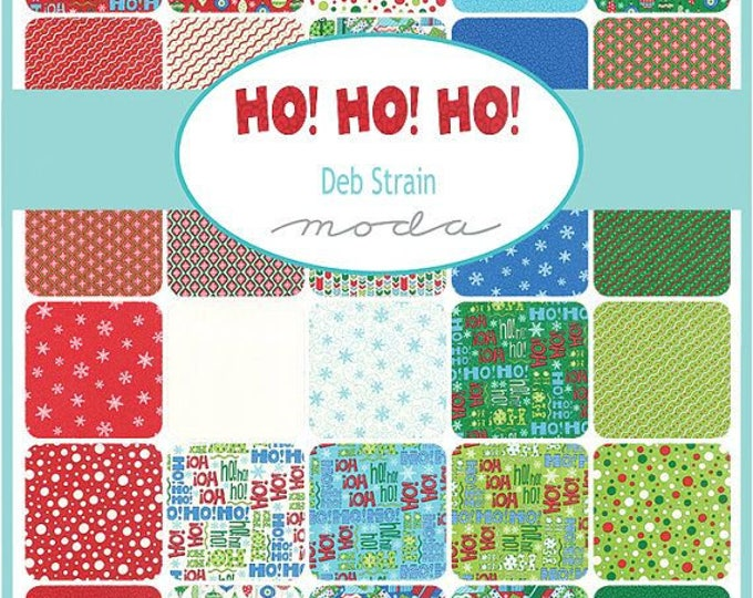 "MODA Fabric - Ho Ho Ho by Deb Strain -  2.5"" strips cotton woven fabrics"