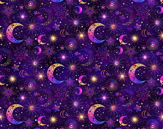 Northcott  - Cosmic Universe -DP22718-88 Digitally Printed Cotton Woven Fabric