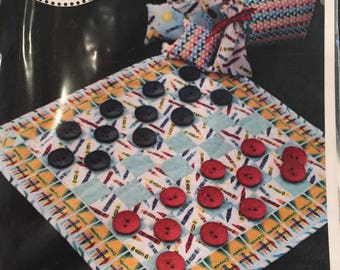 Pattern - Checkers Game Day fabric Pattern - SALE !! was 11.99 - Now 8.99
