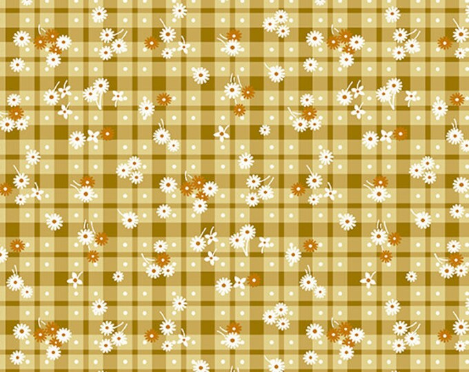 Andover Fabrics - Barnyard Babies - Mustard Gingham   - A-8805-N Cotton Woven Fabric