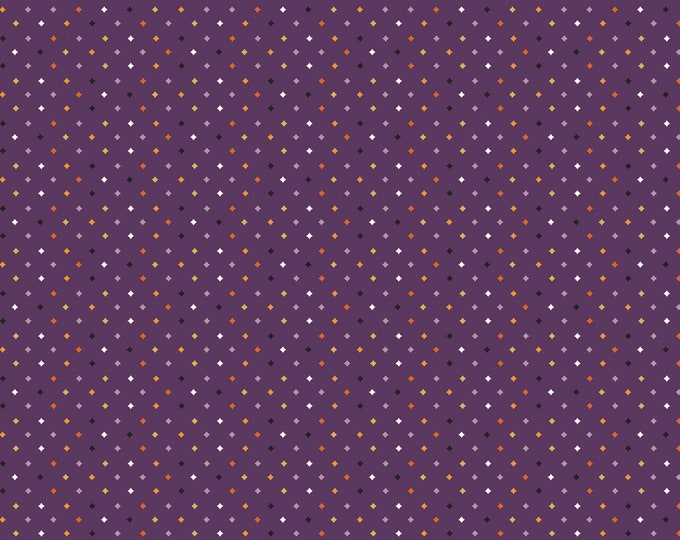 Riley Blake - Fab-Boo-Lous Witches by Dani Mogstad - Diamonds Purple #C8176R-PURPL Cotton Woven Fabric