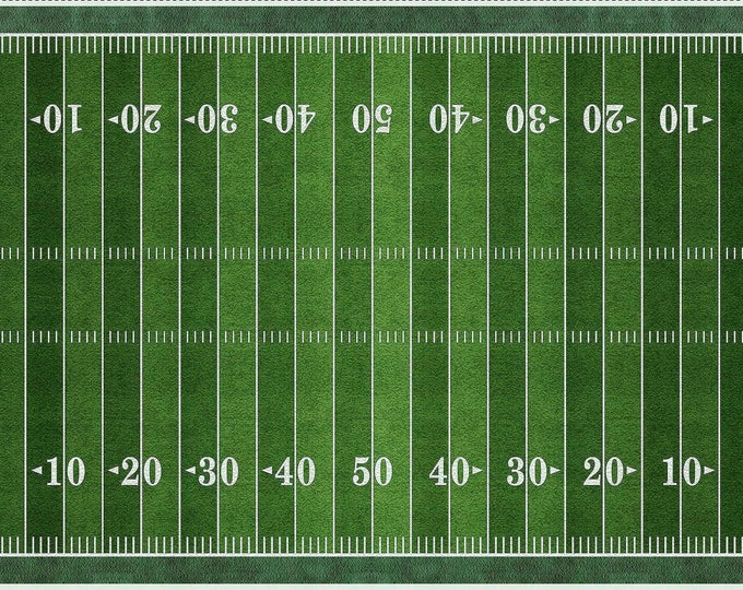 Football Field Panel 24 inches Cotton Woven by Quilting Treasures