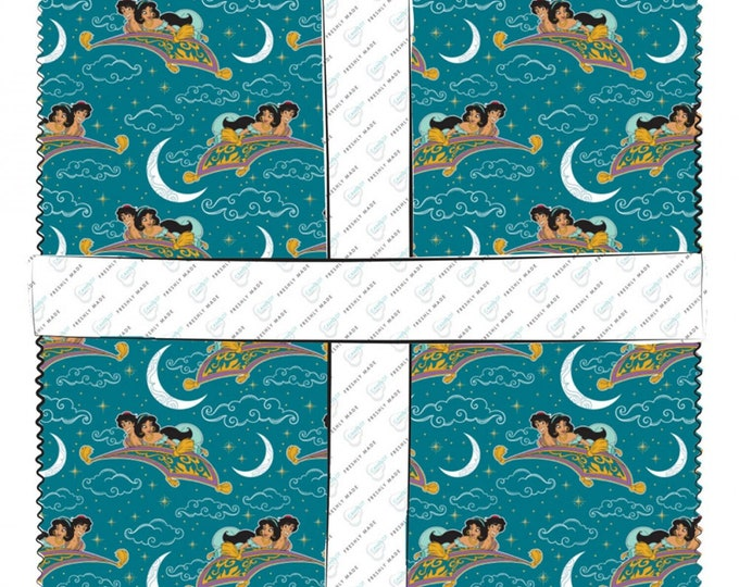 Camelot Fabrics - Licensed Disney's Aladdin - 10in Squares Disney Aladdin, 42pcs:bundle #85101310SQU Cotton Woven Fabric