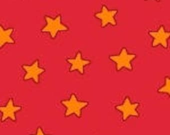 Last Piece - 1 yard 31 Inches - Marcus Brothers Fabric - Pete the Cat - Stars Red Licensed Cotton Woven Fabric